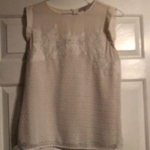 Cream Loft blouse